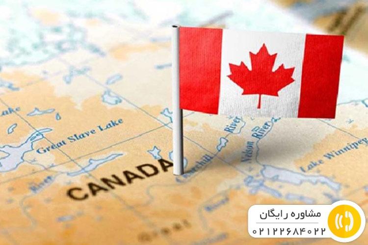 تصویری فانتزی از نقشه کانادا